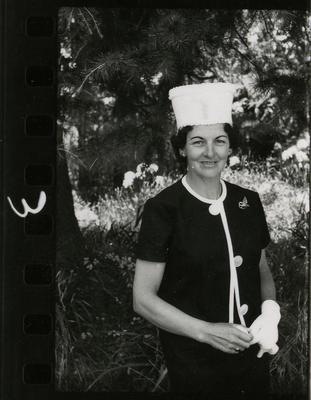 Contact Print: Woman in a Hat