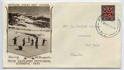 First Day Cover: New Zealand Pictorial Stamps 1935