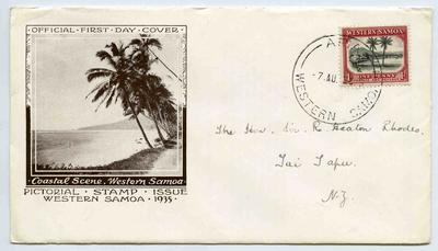 First Day Cover: Western Samoa Pictorial Stamp Issue 1935
