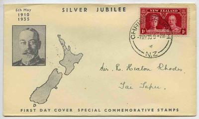 First Day Cover: New Zealand Special Commemorative Stamps 1935