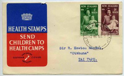 Official Souvenir Cover: New Zealand Health Stamps 1950