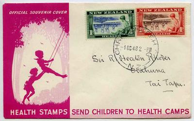 Official Souvenir Cover: New Zealand Health Stamps 1948