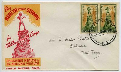 Official Souvenir Cover: New Zealand Health Stamps 1945