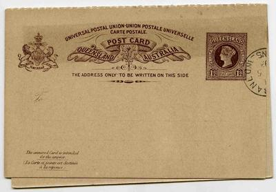 Postcards: Queensland One and a Half Pence Stamp