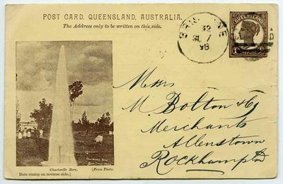 Postcard: Queensland One Penny Stamp