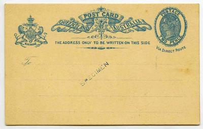 Postcard: Queensland Two Pence Stamp