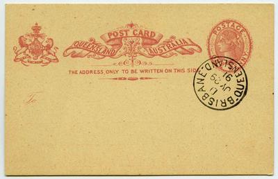 Postcard: Queensland One Penny Stamp