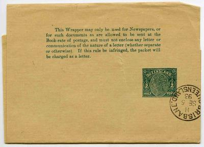 Wrapper: Queensland Half Penny Stamp