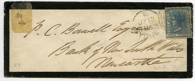 Envelope: New South Wales Two Pence Stamp Attached