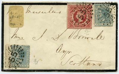 Envelope: New South Wales Two Pence and One Shilling Stamps Attached