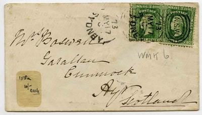 Envelope: New South Wales Three Pence Stamps Attached