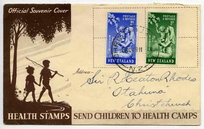 Official Souvenir Cover: New Zealand Health Stamps 1949