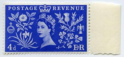 Stamp: British Four Pence