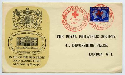 Souvenir Cover: The Royal Philatelic Society's Stamp Centenary Exhibition
