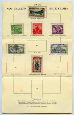 Folder: New Zealand Peace Stamps 1946