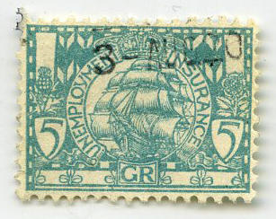 Stamp: Unemployment Insurance Five Pence [?]