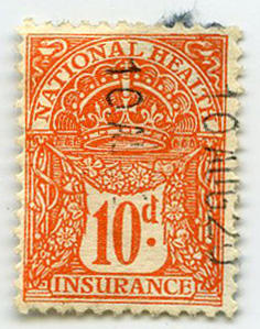 Stamp: National Health Insurance Ten Pence