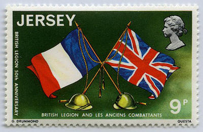 Stamp: Jersey Nine Pence
