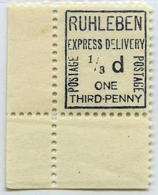 Stamp: Ruhleben Express Delivery One Third Penny