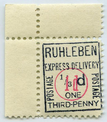 Stamp: Ruhleben Express Delivery One Penny