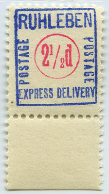 Stamp: Ruhleben Express Delivery Two and a Half Pence