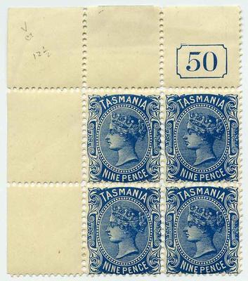 Stamps: Tasmania Nine Pence