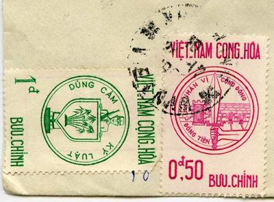 Stamps: Vietnam 1 dong and 0.50 dong