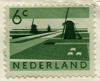Stamp: Netherlands 6 cent