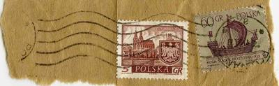 Stamps: Polish 5 Grosze and 60 Grosze