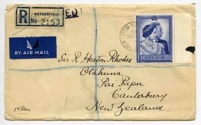 Envelope: British One Pound Stamp Attached