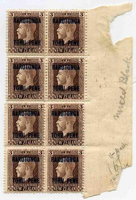 Stamps: New Zealand-Rarotonga Three Pence