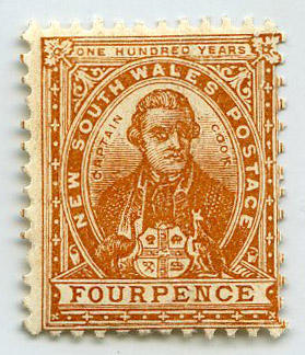 Stamp: New South Wales Four Pence