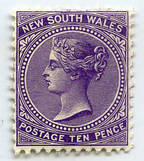 Stamp: New South Wales Ten Pence