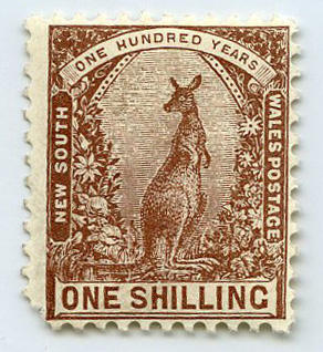 Stamp: New South Wales One Shilling