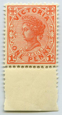 Stamp: Victoria One Penny