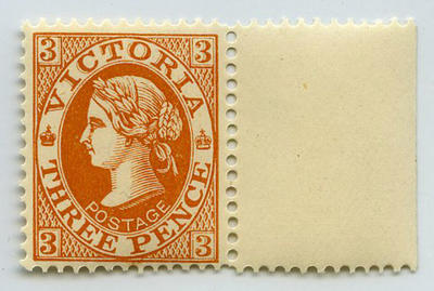 Stamp: Victoria Three Pence