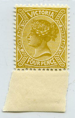 Stamp: Victoria Four Pence