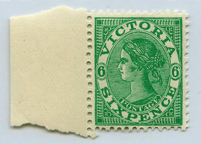 Stamp: Victoria Six Pence