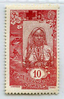 Stamp: French Somaliland 10 Centimes