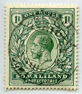 Stamp: British Somaliland 1 Rupee