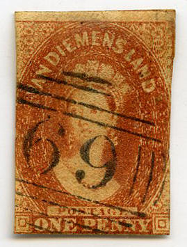 Stamp: Van Diemen's Land One Penny