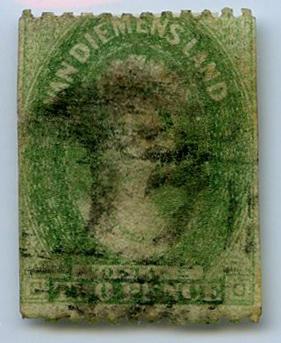 Stamp: Van Diemen's Land Two Pence
