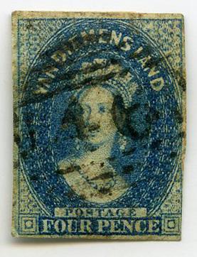Stamp: Van Diemen's Land Four Pence