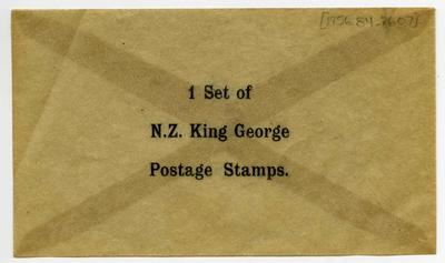 Envelope: King George Postage Stamps