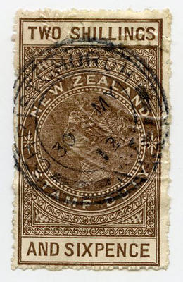 Stamp: New Zealand Two Shillings and Six Pence