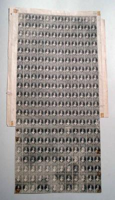 Stamps: Sheet of New Zealand Two Pence