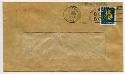Envelope: New Zealand Two and a Half Cent