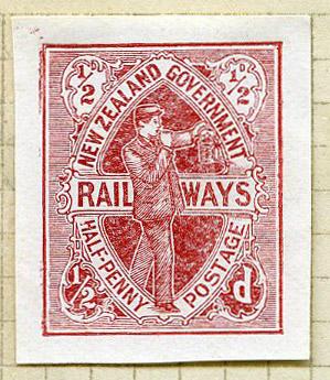 Proof: New Zealand Railways Half Penny Postage Stamp