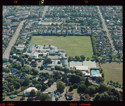 Negative: Shirley Boys' High School Aerial View