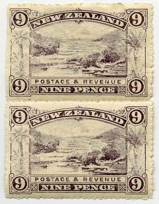 Stamps: New Zealand Nine Pence